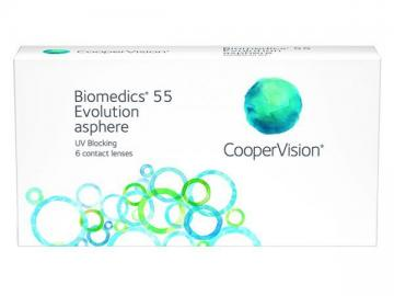 Линзы на 1 месяц Biomedics 55 Evolution  (6 линз)